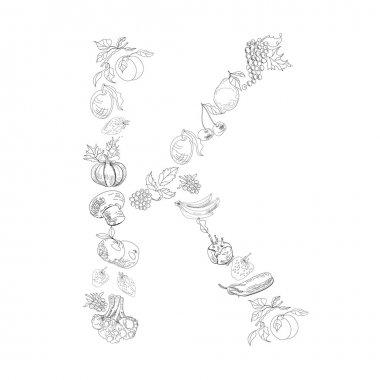 Decorative font, Letter K