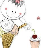 Dívka se zmrzlinou