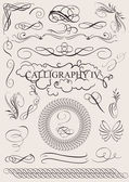 Fotografie Vector set: calligraphic design elements and page decoration