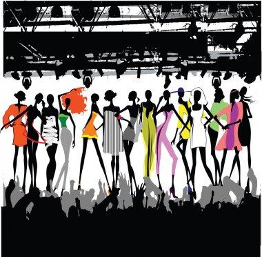 Fashion Show Crowd Vector stock vector