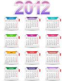 Fotografie Set twelve month calendar 2012