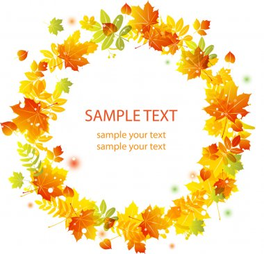 Autumn leaves background. vector banner
