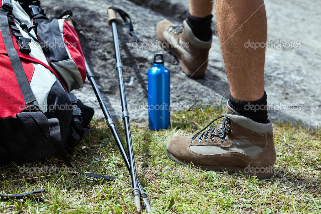 Hiker and hiking equipment