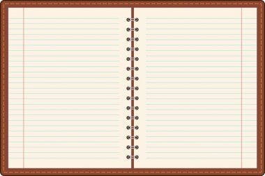 Pages of ruled notebook paper. Vector stock vector