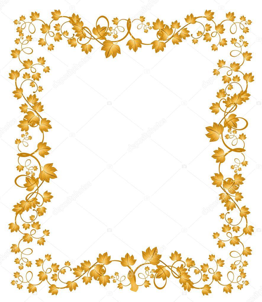 hermoso marco decorativo de las hojas para el diseño — Vector de ...