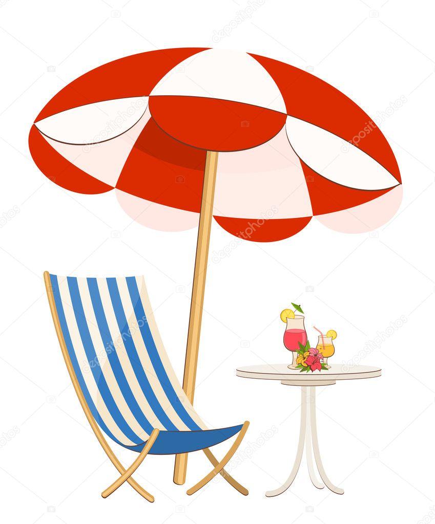 Liegestuhl mit sonnenschirm clipart  Liegestuhl Mit Sonnenschirm Strand | ambiznes.com