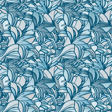 seamless spring background with lily flowers