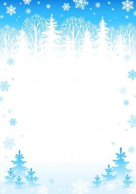 Winter day background