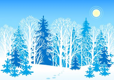 Winter vector landscape