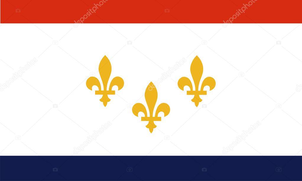 Bandera de nueva orleans — Foto de stock © tony4urban #7348458
