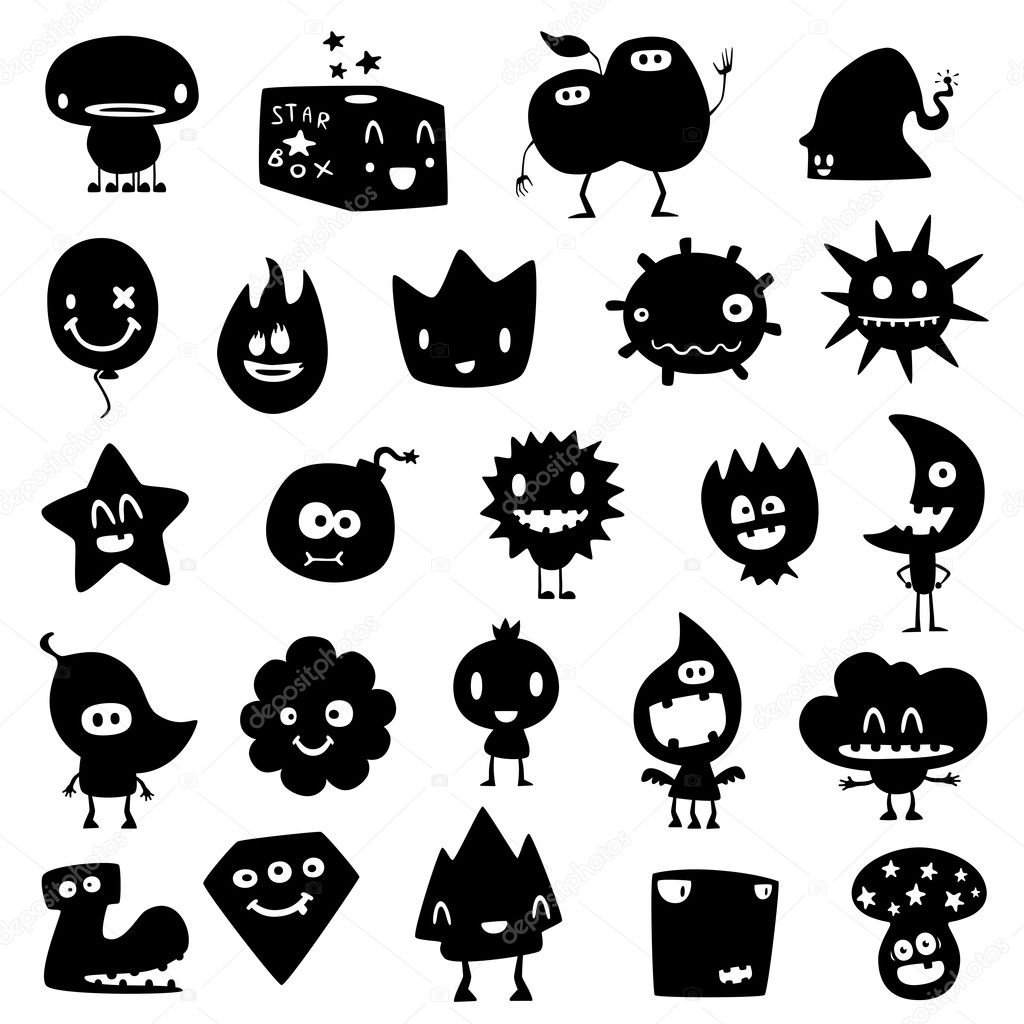 Monstres rigolos image vectorielle artenot 6948667 - Images de monstres rigolos ...