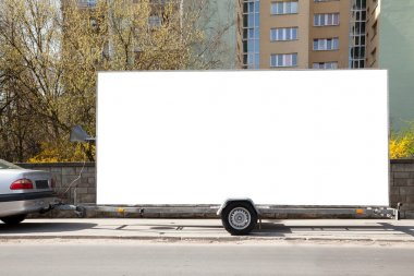 Blank billboard car trailer