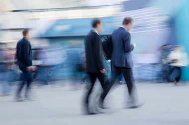 Businessman rushing to office