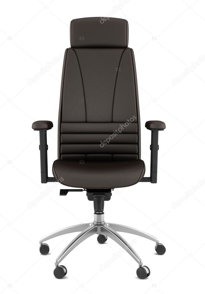 Oficina Sobre Blanco De Marrón Fondo Moderno Silla Aislada Cuero 54j3RqAL