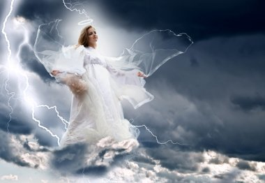 Angel in the sky storm