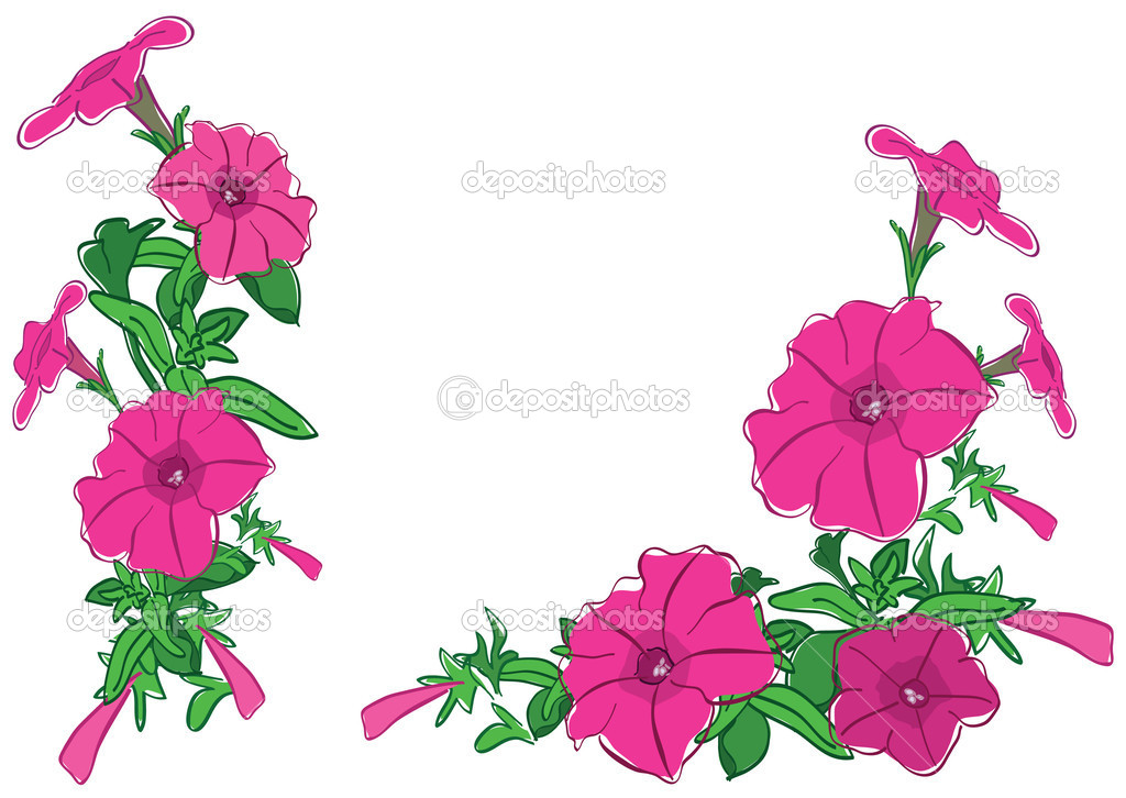 ramos de flores rojas ilustracin vectorial u vector de stock