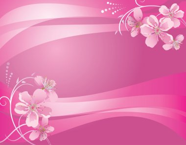 Abstract pink background with flower - eps 10 clip art vector