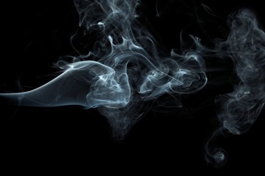 White smoke on black background stock vector