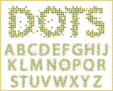Halftone alphabet.