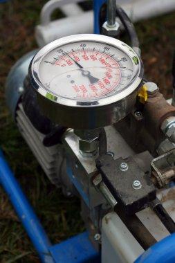 Barometer on machine