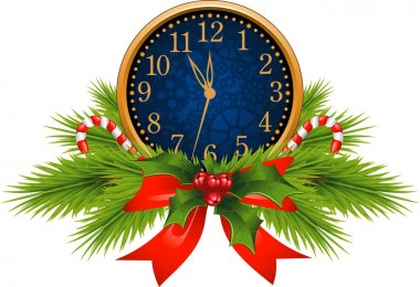 Decorated Clock (New Year's Eve)