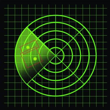 Radar screen - vector