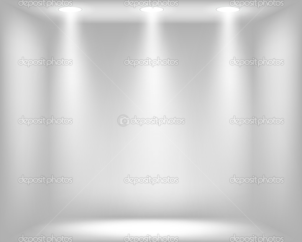 Abstract Light Grey Background With Spotlights Stock