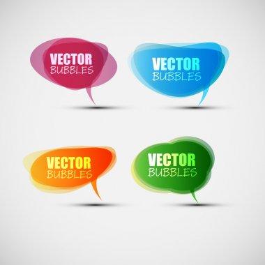 EPS10 Colorful Bubbles for Speech Vector Design clip art vector