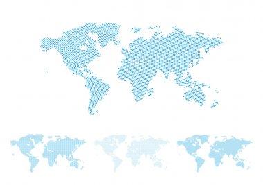 World map halftone