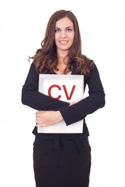 Young woman with cv