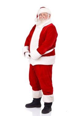 Santa holding his big belly