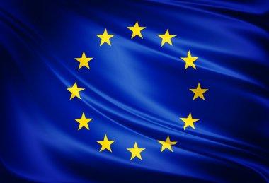 Simbol flag of european union stock vector