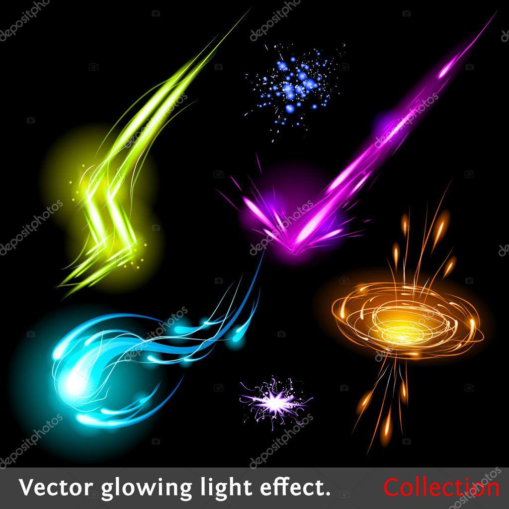 Vector light effects set