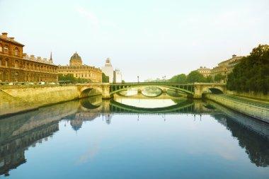 Seine river and Bridge in Paris, France