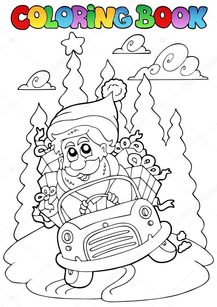 tema de Navidad libro 5 para colorear — Archivo Imágenes Vectoriales ...