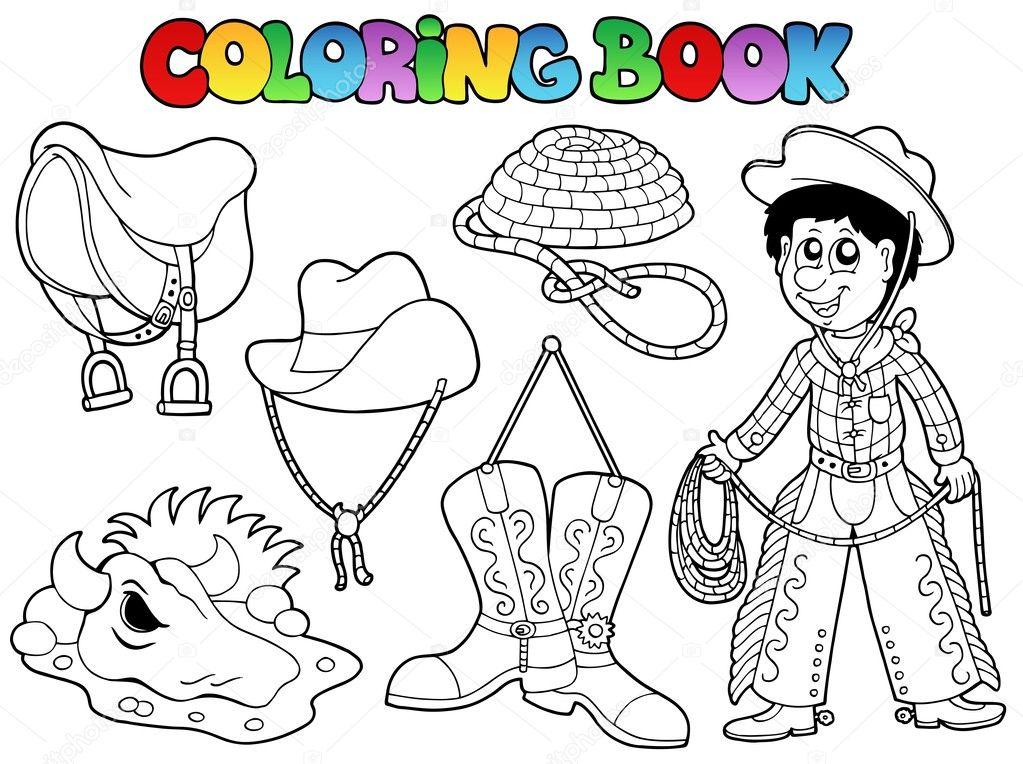 colección del país libro para colorear — Vector de stock © clairev ...