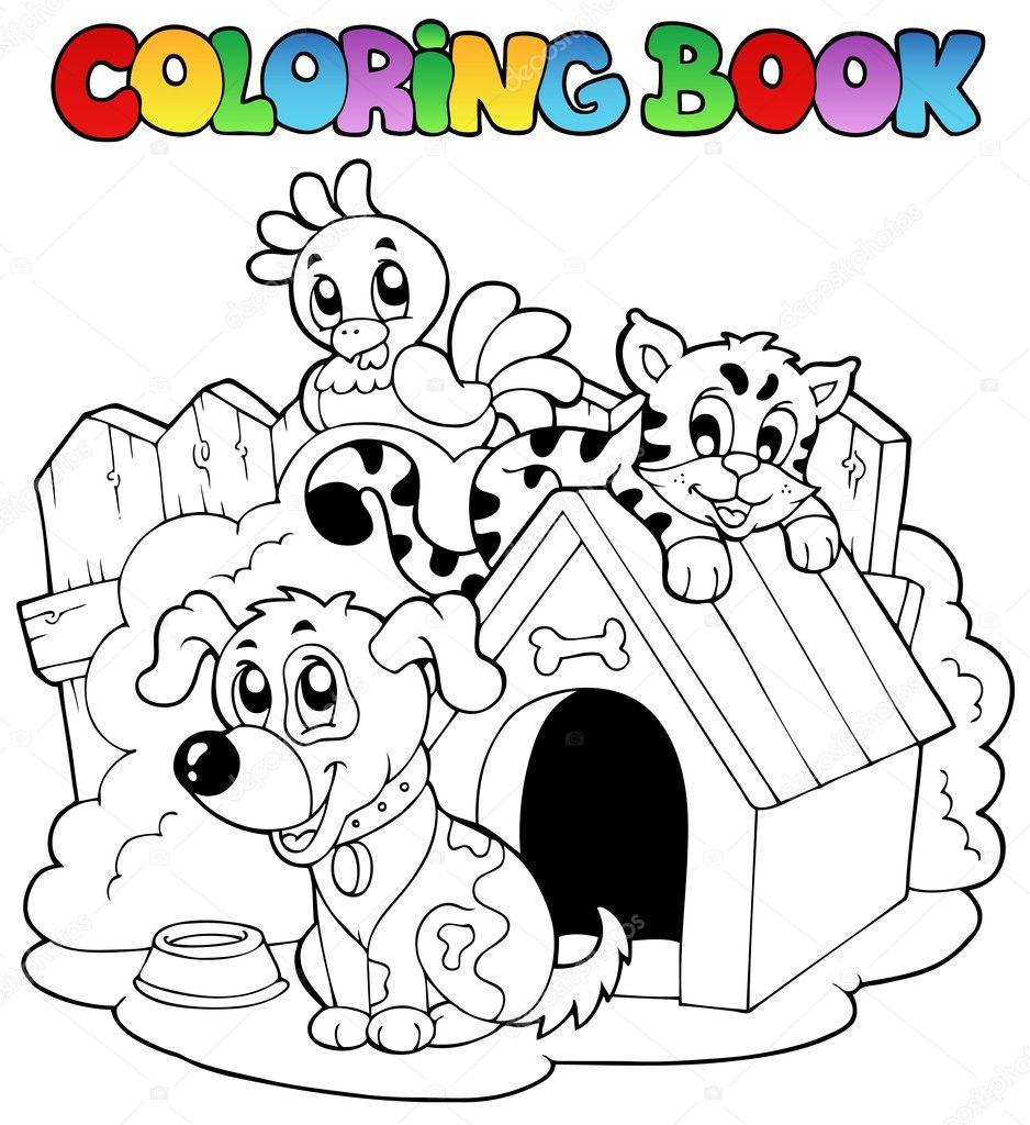 Imágenes Animales Domesticos Para Colorear Libro Para Colorear