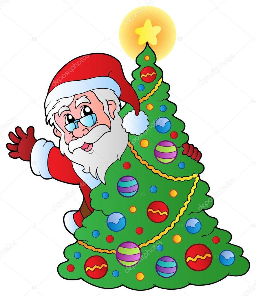 Weihnachten Weihnachtsmann 4 — Stockvektor © clairev #7477660