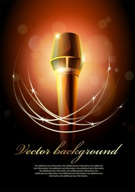 Background with a microphone