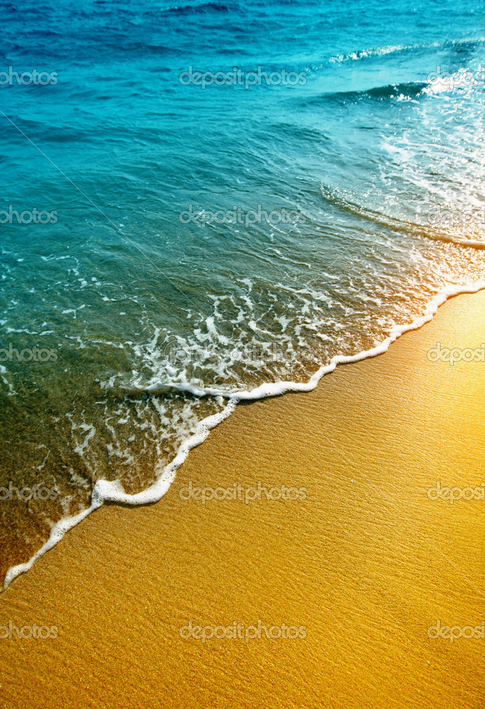 Water and sand