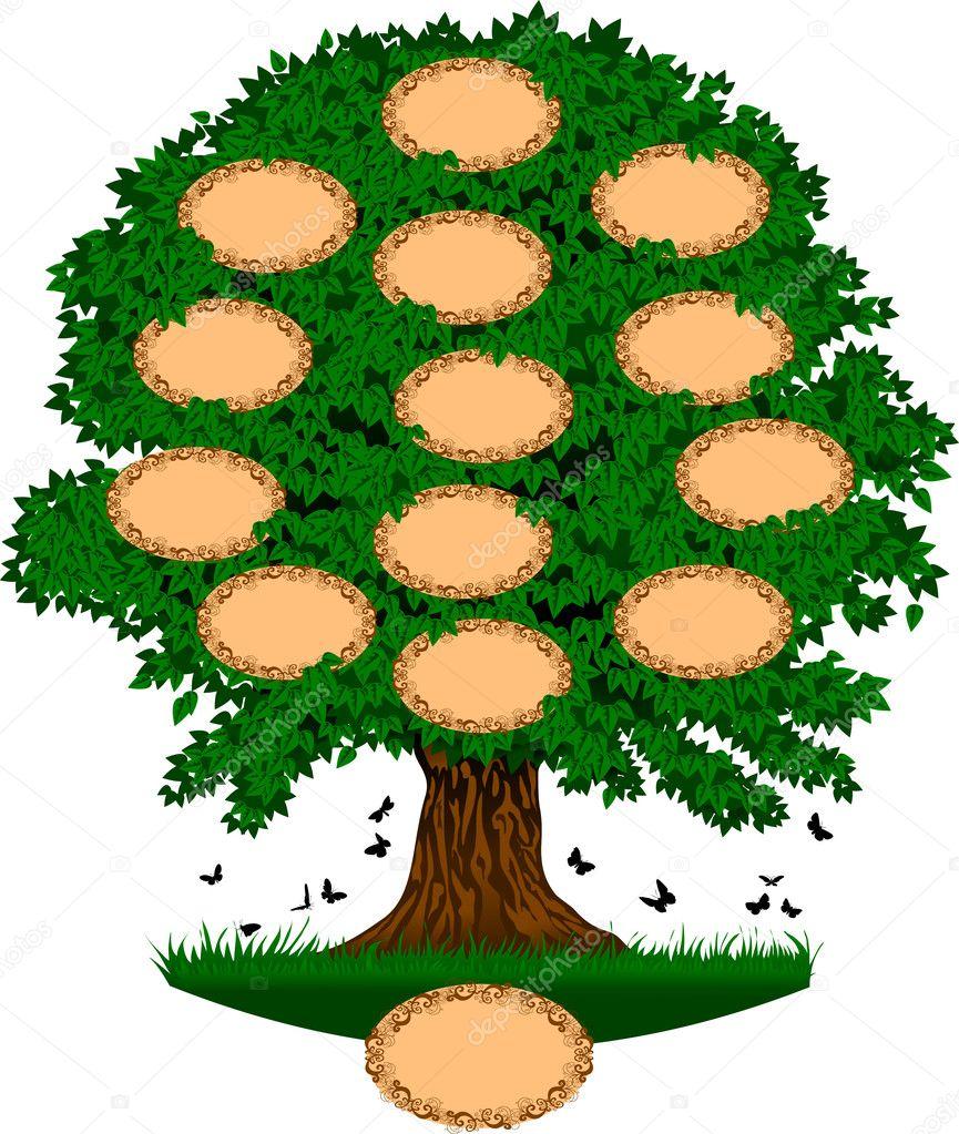 árbol Genealógico Archivo Imágenes Vectoriales Sababa66 6937162