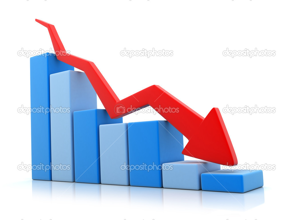 Blue grafic down