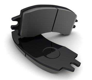 Black brake pads