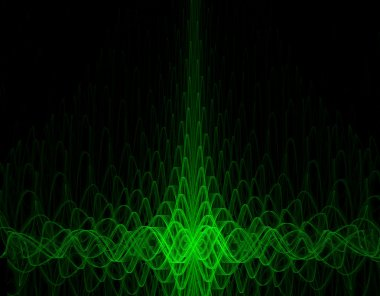 Green oscillograph background - high quality render stock vector