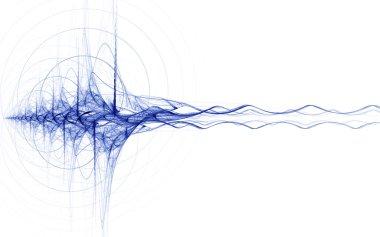 Blue energy impulse on white background stock vector