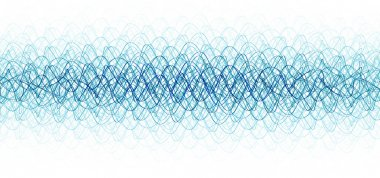 Chaotic waveforms over white background. hq render stock vector