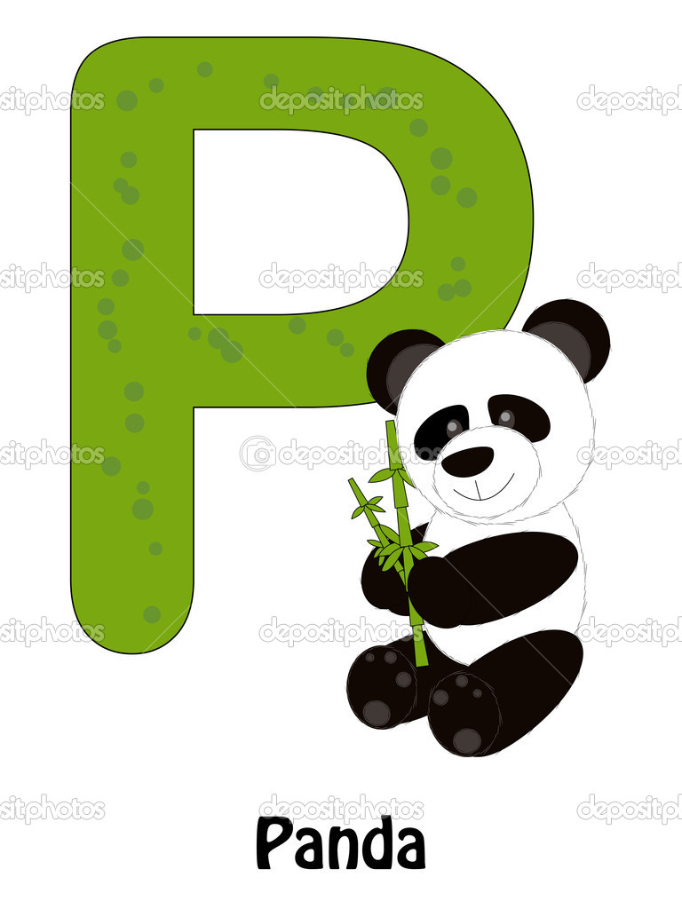 Panda with letter P 10