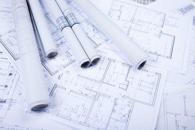 House blueprints stock vector