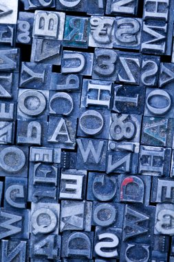Print, fond, letters