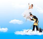 Fotografie gerade geheiratet